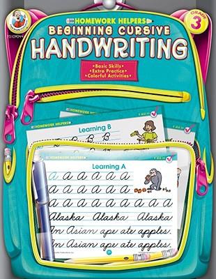 Homework Helper Beginning Cursive Handwriting, Grade 3 By Frank Schaffer Publications (COR)